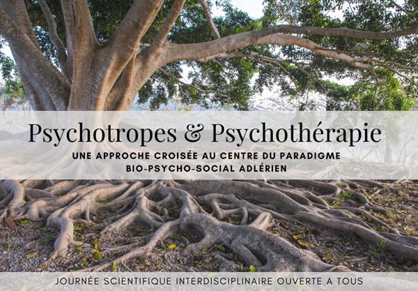 Samedi 11 Novembre 2017 : Psychotropes et Psychothérapie : une approche croisée au sein du paradigme bio-psycho-social adlérien